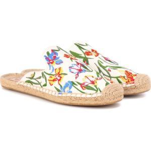 トリー バーチ Tory Burch レディース エスパドリーユ シューズ・靴 max printed espadrille slides New Ivory/Painted Iris fermart3-store