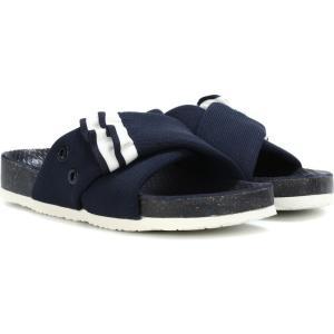 トリー バーチ Tory Sport レディース サンダル・ミュール シューズ・靴 ruffle slides Navy fermart3-store
