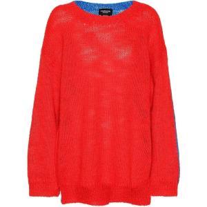 カルバンクライン Calvin Klein 205W39NYC レディース ニット・セーター トップス Alpaca and mohair sweater Red Blue|fermart3-store