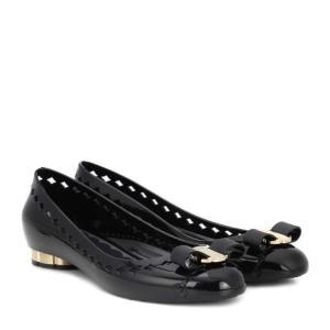 サルヴァトーレ フェラガモ レディース スリッポン・フラット シューズ・靴 Vara Bow Jelly ballet flats Nero|fermart3-store