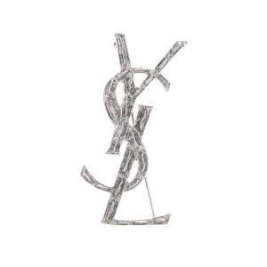 イヴ サンローラン レディース ブローチ ジュエリー・アクセサリー Opyum YSL engraved brooch|fermart3-store