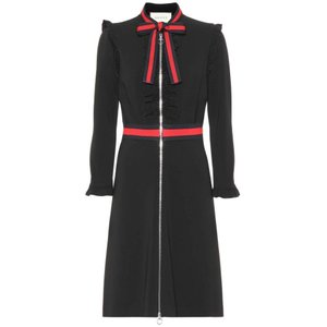 グッチ レディース ワンピース ワンピース・ドレス Crepe jersey dress Black|fermart3-store
