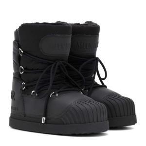 モンクレール Moncler レディース ブーツ シューズ・靴 x Moon Boot Uranus ankle boots Black|fermart3-store