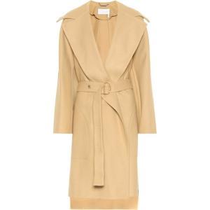 クロエ Chloe レディース コート アウター Stretch wool coat Barley Brown fermart3-store