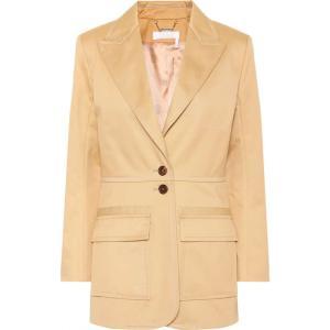 クロエ レディース スーツ・ジャケット アウター Cotton blazer Quiet Brown fermart3-store