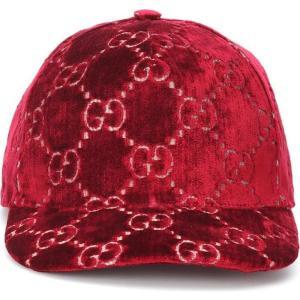 グッチ Gucci レディース キャップ 帽子 GG velvet cap|fermart3-store