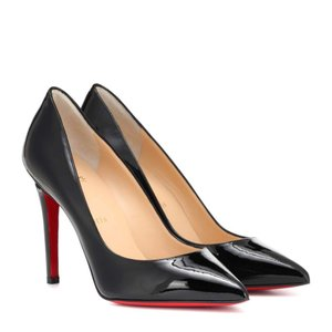 クリスチャン ルブタン Christian Louboutin レディース パンプス シューズ・靴 Pigalle 100 patent leather pumps Black|fermart3-store