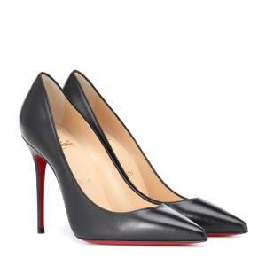 クリスチャン ルブタン Christian Louboutin レディース パンプス シューズ・靴 Decollete 554 100 leather pumps Black|fermart3-store