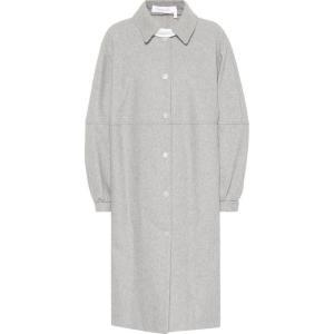 クロエ See By Chloe レディース コート アウター Wool-blend coat Drizzle Grey fermart3-store