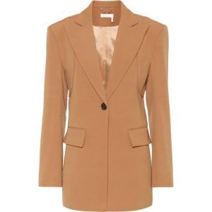 クロエ Chloe レディース スーツ・ジャケット アウター Wool-blend blazer Pottery Brown fermart3-store