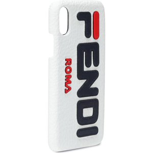 フェンディ Fendi レディース iPhone (X)ケース FENDI MANIA leather iPhone X case|fermart3-store