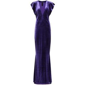 ノーマ カマリ Norma Kamali レディース パーティードレス ワンピース・ドレス Velvet gown purple|fermart3-store