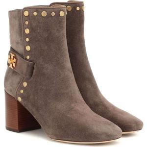 トリー バーチ Tory Burch レディース ブーツ ショートブーツ シューズ・靴 embellished suede ankle boots Bisonte/Bisonte fermart3-store