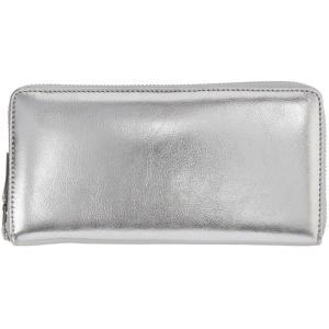 コム デ ギャルソン レディース 財布 Silver Continental Wallet|fermart3-store