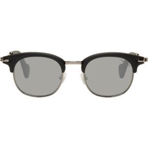 モンクレール メンズ メガネ・サングラス Black Wayfarer Sunglasses|fermart3-store
