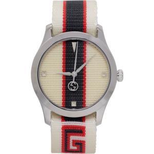 グッチ メンズ 腕時計 White G-Timeless Logo Watch|fermart3-store