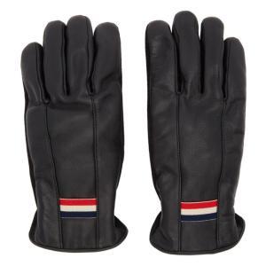 モンクレール Moncler メンズ 手袋・グローブ Black Leather Guanti Gloves fermart3-store