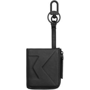 モンクレール Moncler メンズ 財布 Black 'M' Coin Pouch Wallet|fermart3-store