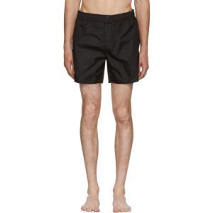 モンクレール メンズ 海パン 水着・ビーチウェア Black Dolmias Beach Swim Shorts|fermart3-store