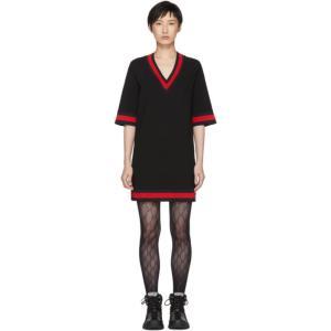グッチ レディース ワンピース ワンピース・ドレス Black Short Webbing Dress|fermart3-store