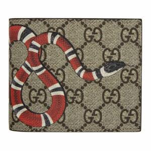 グッチ メンズ 財布 Beige GG Supreme Kingsnake Wallet|fermart3-store