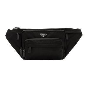 プラダ メンズ ボディバッグ・ウエストポーチ バッグ Black Small Nylon Logo Fanny Pack|fermart3-store