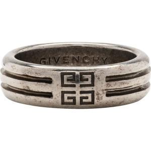 ジバンシー Givenchy メンズ 指輪・リング ジュエリー・アクセサリー Silver 4G Double Row Ring|fermart3-store