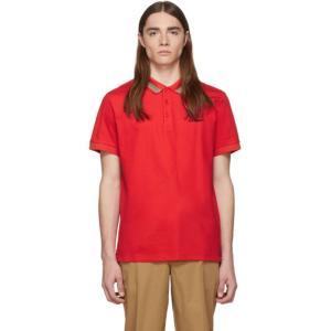 バーバリー Burberry メンズ ポロシャツ トップス Red Johnston Polo Br...