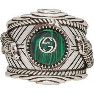 グッチ Gucci メンズ 指輪・リング ジュエリー・アクセサリー Silver Garden Logo Ring|fermart3-store