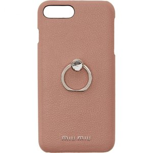 ミュウミュウ Miu Miu レディース iPhone (8 Plus)ケース Pink Madras Ring iPhone 8 Plus Case|fermart3-store