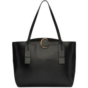 クロエ Chloe レディース トートバッグ バッグ Black Medium ' C' Tote Black|fermart3-store
