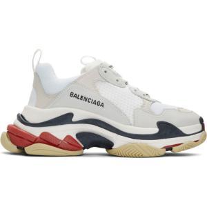 バレンシアガ Balenciaga メンズ スニーカー シューズ・靴 White & Red Tri...