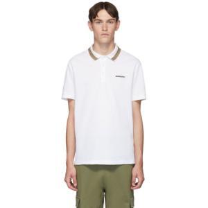 バーバリー Burberry メンズ ポロシャツ トップス White Icon Stripe Jo...
