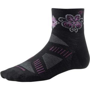 スマートウール レディース 自転車 Smartwool PhD Cycling Ultra Light Mini Sock Black / Violet|fermart3-store