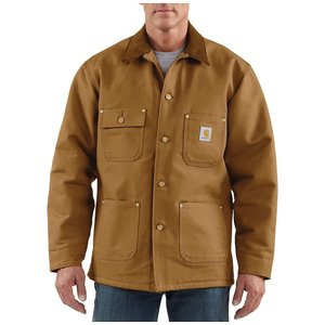 カーハート メンズ コート アウター Carhartt Duck Chore Coat Carhartt Brown fermart3-store