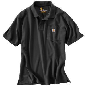 カーハート メンズ ポロシャツ トップス Contractor's Work Pocket Polo T-Shirt Black|fermart3-store