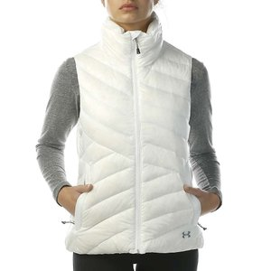 アンダーアーマー レディース ベスト・ジレ トップス ColdGear Infrared Uptown Vest White / Steel|fermart3-store