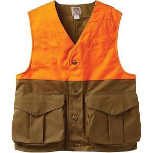 フィルソン メンズ トップス 釣り・フィッシング Filson Upland Hunting Vest Blaze Tan / Blaze Orange|fermart3-store