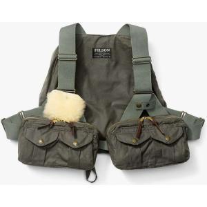 フィルソン Filson メンズ トップス 釣り・フィッシング Cover Cloth Foul Weather Fly Fishing Vest Otter Green|fermart3-store