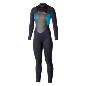 エクセル レディース ウェットスーツ サーフィン Axis X1 3/2 MM Fullsuit Black / Chlorine Blue|fermart3-store