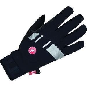 カステリ メンズ アクセサリー 手袋 Castelli Tempesta Glove Black / Reflective Silver / Turbulence|fermart3-store