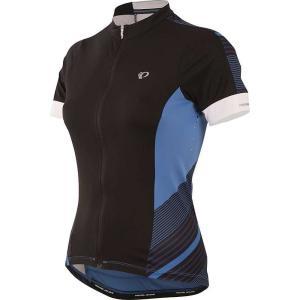 パールイズミ Pearl Izumi レディース 自転車 トップス ELITE Pursuit SS Jersey Black/Sky Blue Stripe|fermart3-store