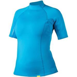 エヌアールエス レディース トップス サーフィン HydroSkin 0.5 SS Shirt Azure Blue|fermart3-store