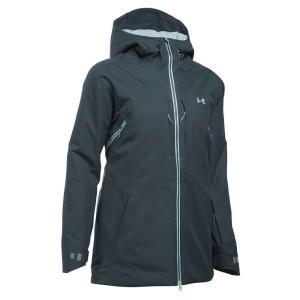 アンダーアーマー レディース アウター スキー・スノーボード Under Armour UA ColdGear Infrared Revy Insulated Jacket Stealth Grey / Aqua Falls / Steel|fermart3-store