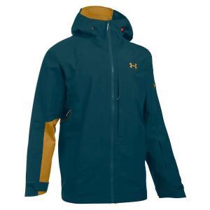アンダーアーマー メンズ アウター Under Armour UA Chugach GTX Jacket Nova Teal / Bolt Orange / Gold Ore|fermart3-store