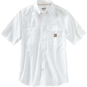 カーハート メンズ 半袖シャツ トップス Force Ridgefield Solid SS Shirt White|fermart3-store