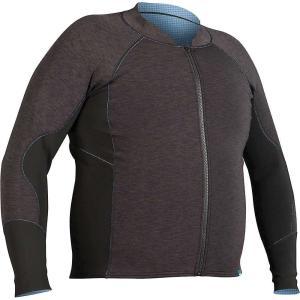 エヌアールエス メンズ トップス サーフィン Grizzly HydroSkin 1.5 Jacket Charcoal Heather|fermart3-store