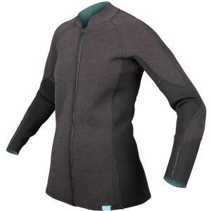 エヌアールエス レディース トップス サーフィン HydroSkin 1.5 Jacket Charcoal Heather|fermart3-store