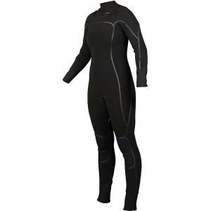エヌアールエス レディース ウェットスーツ サーフィン Radiant 4/3mm Wetsuit Black|fermart3-store