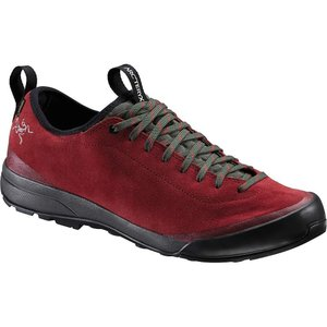 アークテリクス メンズ シューズ・靴 ハイキング・登山 Arcteryx Acrux SL Leather GTX Shoe Carmin / Windy Green|fermart3-store